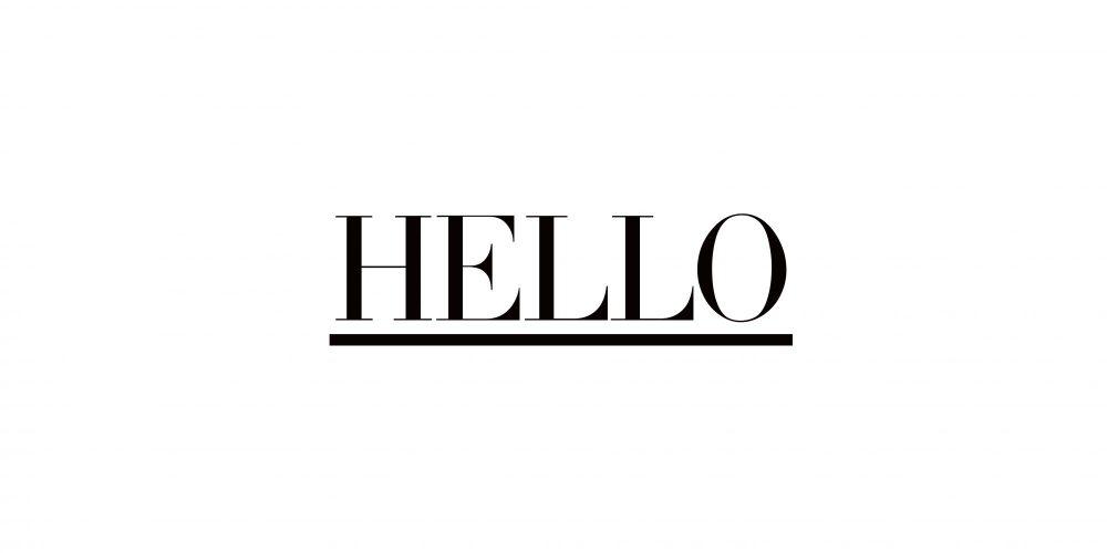 「HELLO ロゴTシャツ」再入荷のお知らせ