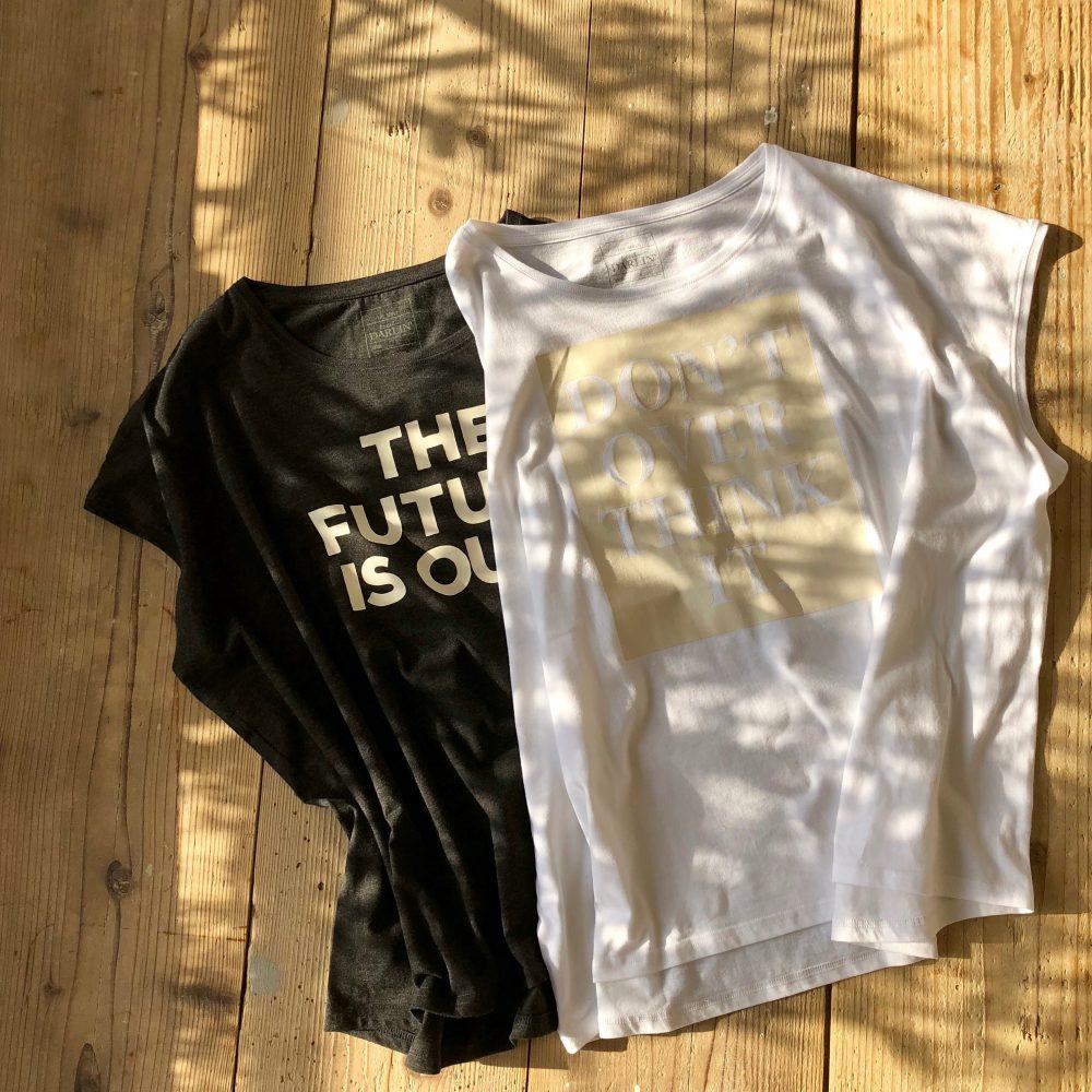 ビッグシルエットTシャツ ホワイト&チャコールグレー 販売のお知らせ
