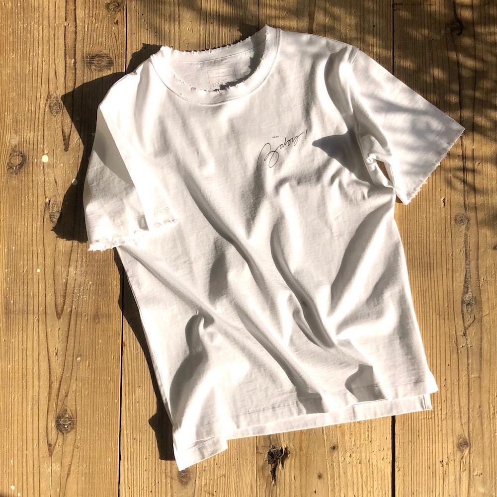 ダメージ入りミニロゴTシャツ販売のお知らせ