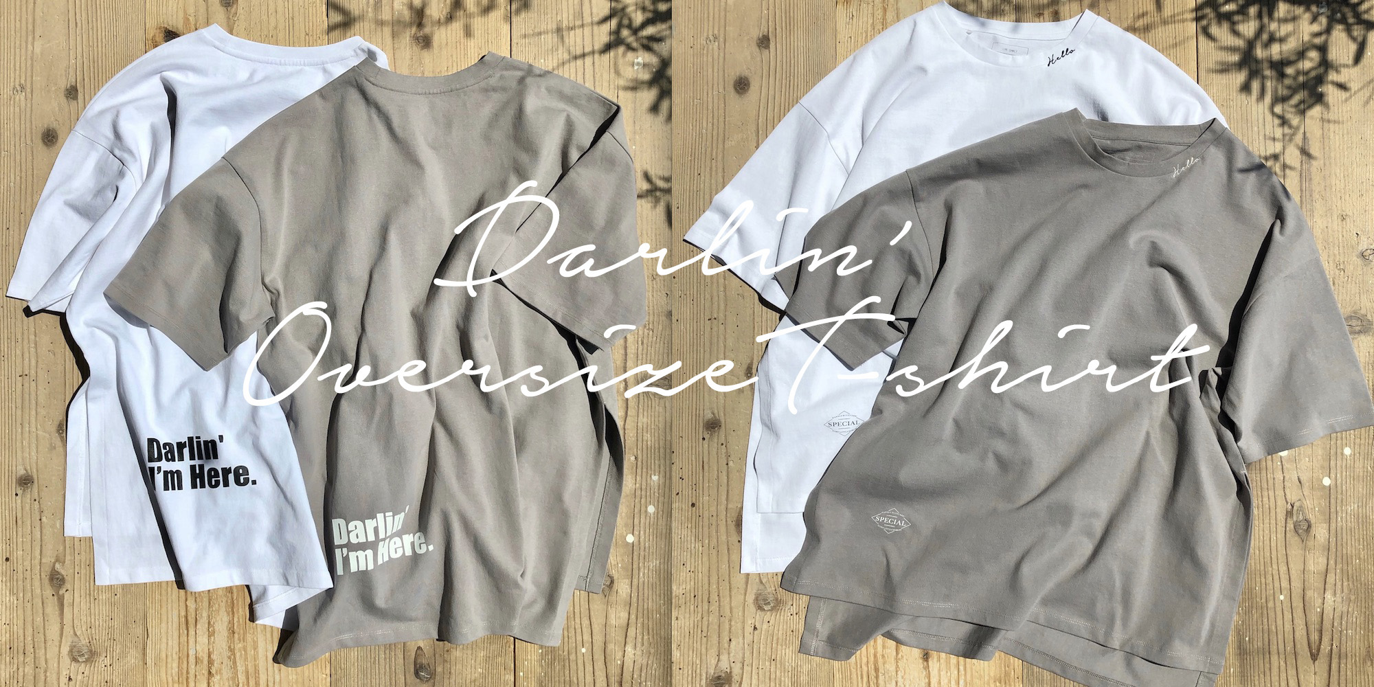 DarlinオーバーサイズTシャツTOPのコピー